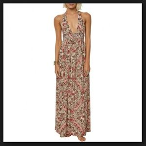 O'Neill Dolley Printed Halter Maxi Dress